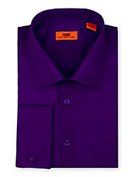 cheap -men's signature solid poplin dress shirt 100% cotton french cuff also available big and tall purple