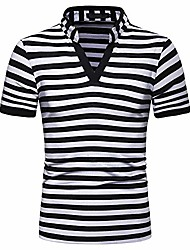 cheap -mens polo shirts short sleeve standing collar casual sport t-shirts (black3, medium)