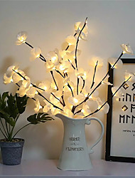 cheap -Creative Led Simulation Phalaenopsis Branch Light Home Interior Decoration Christmas Day Decoration Light Branch Light String
