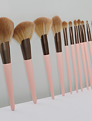 cheap -11 Pcs small pudding makeup brush set soft eye shadow brush beginner beauty tool