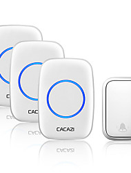 cheap -CACAZI Home Self-powered Wireless Doorbell Without Battery 60 Chimes 5 Volume 0-110 dB Smart Door Ring Bell