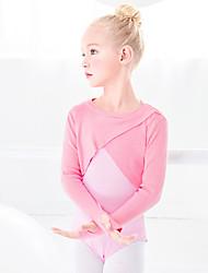 cheap -Ballet Top Solid Girls' Training Performance Long Sleeve High Orlon