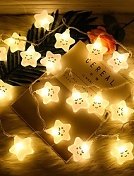 cheap -Star Smiley Fairy Tale String Lights 1.5M 10LEDs 3M 20LEDs Battery Powered Christmas Birthday Party Children's Room Decoration Lights Delivery Without Battery