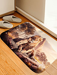cheap -Lion and Son Digital Printing Floor Mat Modern Bath Mats Nonwoven / Memory Foam Novelty Bathroom