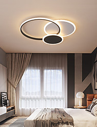 cheap -2-Light 52 cm Circle Design Flush Mount Lights Metal Acrylic Electroplated Traditional / Classic Nordic Style 110-120V 220-240V
