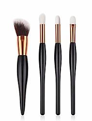 cheap -makeup brush set black small pregnant belly brush eyebrow eyeshadow concealer lip fan makeup brushes cosmetic kits 4/5/6 pcs,4 pcsset