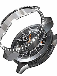 cheap -compatible with samsung gear s3 frontier/galaxy watch 46mm case, pc diamond protective bumper shell protector for samsung gear s3 frontier & galaxy watch 46mm smartwatch bands accessories