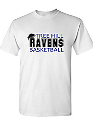 cheap -tree hill ravens tv show one - mens cotton t-shirt, 2xl, white usa made