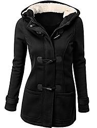 cheap -women windbreaker outwear warm wool slim long coat jacket trench black
