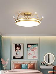 cheap -50 cm LED Ceiling Light Gold Crown Shape Geometric Shapes Nordic Style Flush Mount Lights Metal Painted Finishes 110-120V 220-240V
