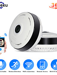 cheap -Hiseeu 960P/1.3MP 3D VR wifi FishEye IP camera 360 degree Full View Mini CCTV Camera 1.3MP Network Home Security Camera Panoramic