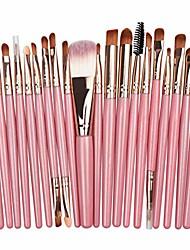 cheap -makeup brushes set, 20pcs professional cosmetics makeup brush set for foundation blending blush concealer shader eyeshadow eyeliner cosmetic beauty tool kit,pink