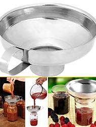 cheap -1pc Canning Funnel Stainless Steel Wide Mouth Canning Funnel Hopper Filter Leak Wide-Mouth Can for Oil Wine Kitchen Cooking Tools