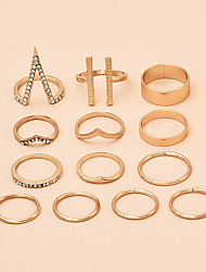 cheap -Ring Gold Alloy Elephant Punk Rock Africa Middle Finger / Women's