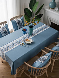cheap -Table Cloth Cotton Dust-Proof Classic Embroidered Table Cover Table Decorations for Daily Rectangular