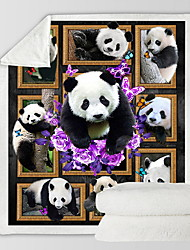 cheap -Panda Print Comfort Luxury Faux Fur Throw Blanket - Ultra Soft and Fluffy - Plush Throw Blankets for Couch Bed and Living Room - Fall Winter and Spring