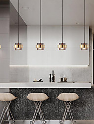 cheap -18 cm Single Design Pendant Light Nordic Style Modern Simple Minimalism Glass Electroplated 110-120V 220-240V