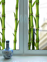 cheap -Frosted Privacy Green Bamboo Pattern Window Film Home Bedroom Bathroom Glass Window Film Stickers Self Adhesive Sticker 60*116cm