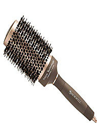 cheap -thermal ceramic ionic round barrel anti-static hair brush with boar bristle, roller hairbrush for blow drying, curling, straightening, add volume & shine (3.3 inch overall(2 inch barrel))