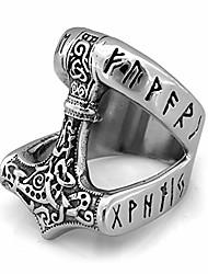cheap -runic thor's hammer mjolnir ring 316l stainless steel norse scandinavian viking jewelry (10)