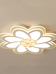 cheap -42/52/62 cm Flower Shape LED Ceiling Light Modern Simple Romantic Bedroom Living Room Dining Room Home Office