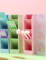cheap -Multi-function 4-Grid Desktop Pen Holder Office School Storage Case Plastic Box Desk Pencil Organizer