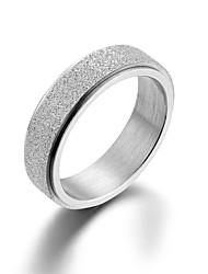 cheap -titanium steel rings spinner band sand blast for wedding engagement black  rose gold rainbow