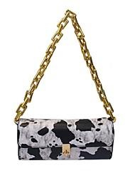 cheap -Women's Bags PU Leather Chain Handbags Event / Party Black Grey Black / White Black