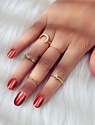 cheap -Ring Gold Alloy Moon Fashion 1 set 6 / Women's