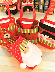 cheap -Christmas Toys Christmas Tote Gift Bag Candy Bag Elk Bear Snowflake Outdoor Indoor Fabric 4 pcs Kid's Adults 42cm*21cm Christmas Party Favors Supplies