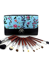 cheap -12 professional animal hair makeup brushes high-end makeup tools makeup brush set beauty tool set