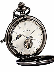 cheap -steampunk vintage pocket watch, stainless steel day and night machinery pocket watch chain