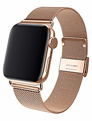 cheap -sport bands compatible with apple watch 38mm 40mm stainless steel mesh replacement band with adjustable closure for watch series 4/3/2/1 (champagne, 42mm/44mm)