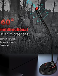 cheap -Computer USB Microphone 360 Degree Flexible Drive-free Online Chat Singing Conference Microphone