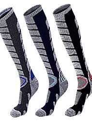 cheap -mens' ski socks cotton soft skin thick warm socks hiking snowboarding (3 pairs) (large)