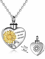 cheap -sterling silver sunflower necklaces cremation ashes urn necklaces easter keepsake jewelry for women
