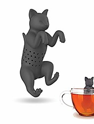 cheap -cat silicone tea infuser, one size