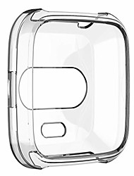 cheap -for fitbit inspire/inspire hr case clear tpu protective watch case cover shell protector(red,as described)