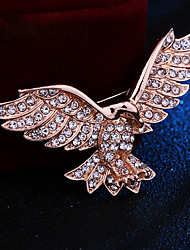 cheap -Wedding Party / Daily Wear Party Accessories Brooches & Pins Rhinestone / Metal / Color Block Rhinestone / Alloy Fashion / Eagle / Creative
