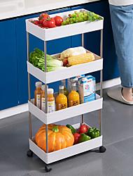 cheap -Kitchen Storage Rack For Goods Fridge Side Shelf 3/4 Layer Removable With Wheels Bathroom Organizer Shelf Gap Holder