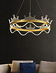 cheap -50 cm LED Pendant Light Gold Crown Design Nordic Modern Metal Painted Finishes 110-120V 220-240V