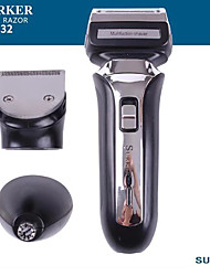 cheap -Surker Electric Hair Trimmer Sk-632 3 In 1 Rechargeable Electric Shaver Razor Nose Hair Trimmer Temples Trimmer Clipper Washable