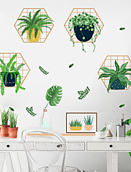 cheap -Floral & Plants Wall Stickers Study Room, Removable PVC Home Decoration Wall Decal 60*40cm