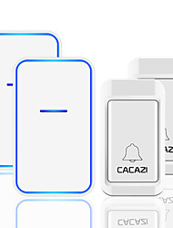 cheap -CACAZI No Battery Required Wireless Doorbell 2 Button 2 Receiver Self-powered Waterproof LED Night Light Home Cordless Call Bell