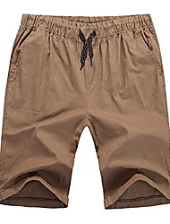 cheap -mens flat front summer shorts casual twill classic fit (large, 1to0006_32 brown)