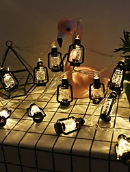 cheap -LED String Light Garland Ramadan Festival Retro Kerosene Lamp Strings Home Decorative Light String for Bedroom Party Coffee house