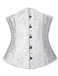 cheap -Corset Women's Plus Size Bustiers Corsets Underbust Corset Classic Tummy Control Fashion Abstract Flower Hook & Eye Lace Up Nylon Others Christmas Halloween Wedding Party Birthday Party Fall Winter