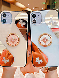 cheap -Phone Case For Apple Back Cover iPhone 12 Pro Max 11 SE 2020 X XR XS Max 8 7 Shockproof with Stand Pattern Butterfly Animal TPU
