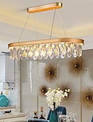 cheap -80 cm Crystal Chandelier Pendant Light Gold Black Island Light Metal Painted Finishes Modern 110-120V 220-240V