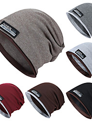 cheap -TCAHCC Men's Women's Hiking Cap Ski Hat 1 Winter Outdoor Thermal Warm Breathable Soft Comfortable Skull Cap Beanie Fashion Wool Corduroy Dark Grey Black Burgundy for Outdoor Exercise Winter Sports